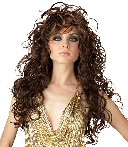 California Costumes Women's Seduction Wig,Brown,One Size (Wig Seduction Brown Adult)