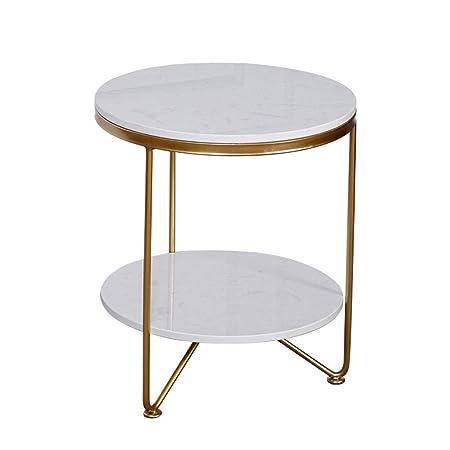 Mesa de Centro de mármol, Creativo Doble Capa sofá Mesa de ...