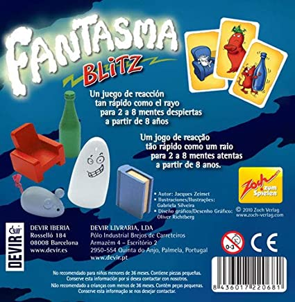 Devir- Fantasma Blitz Juego de Mesa, 13 x 4 x 13 cm, Multicolor, única (BGBLITZ): Amazon.es: Juguetes y juegos
