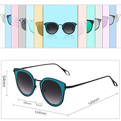 C13 Gafas Unisex Estuche SJ1057 Lentes Protecciòn Blanco Con Negro Vintage Polarizadas Gris SOJOS De UV Espejo Marco Lentes Sol dtTtqP