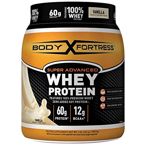 Body Fortress Super Advanced Whey Protein Powder, Vanilla, 60g Protein, 2 Lb (Body Fortress Whey Protein Best Flavor)