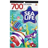 3 BOOKS of SEA LIFE Mini STICKERS - Starfish DOLPHIN Tropical FISH Ocean ANIMALS (2100 total stickers) Kid's ACTIVITY/Craft