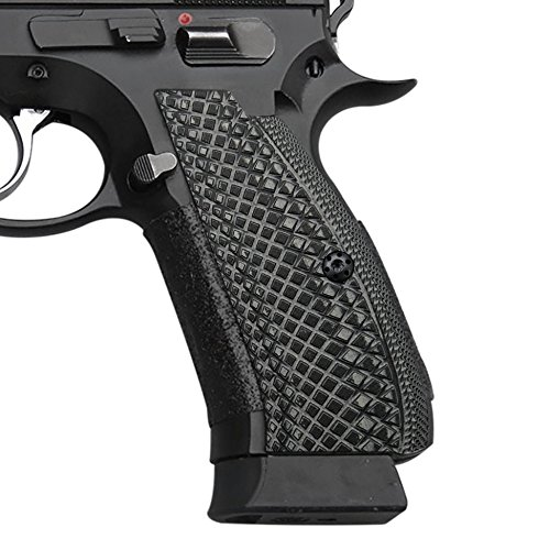 Cool Hand G10 Grips for CZ 75 SP-01 Shadow, Snake Scale Texture, Brand Grey/Black