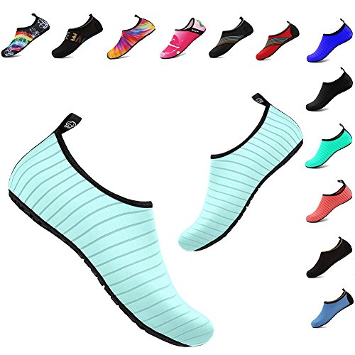Shoes Beach Shoes Men Adult Pool Shoes Barefoot Quick-Dry Aqua Yoga Socks for Outdoor Sports(Green,38/39EU) ()