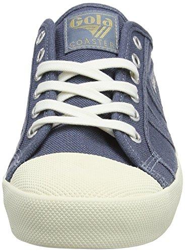 Gola Coaster Linen, Zapatillas para Hombre Azul (Slate Blue/off White Ew Blue)