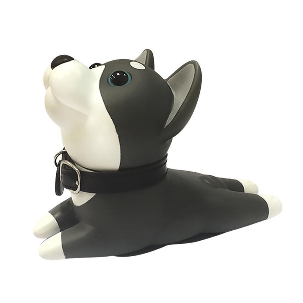Waroomss Fermaporta a Forma di Cuneo Decorativo per Cane Resistente ai Graffi e alla Maniglia Ideale per Decorare la Porta del Cane Bianco e Nero