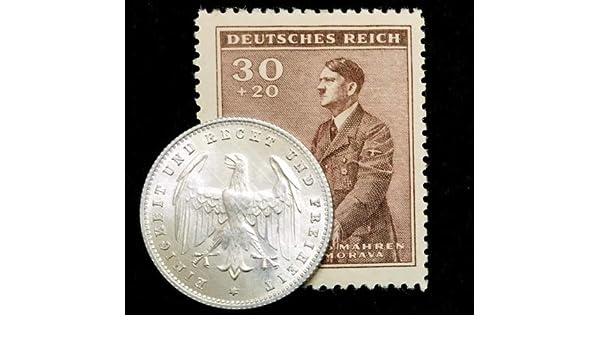 Rare Antique German 200 Mark 1923 Coin /& Unused Stamp World War 1 /& 2 Artifacts