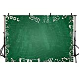 COMOPHOTO Back to School Photography Backdrop Blackboard Chalk Drawing Mathematical Formula Photo Background for Photo Booth Studio 7x5ft Vinyl Cloth Backdrop