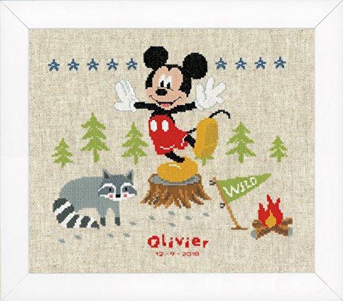 Disney 'A Woodsy Adventure' Birth Record Counted Cross Stitc