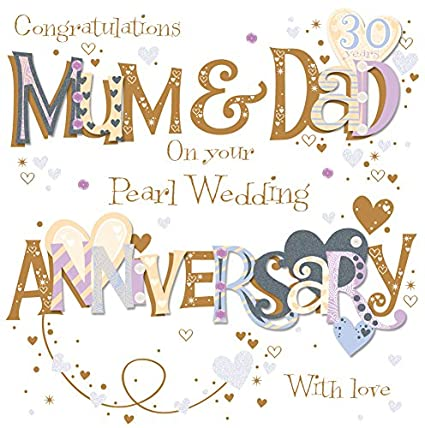 Amazon talking pictures mum dad pearl 30th wedding talking pictures mum dad pearl 30th wedding anniversary greeting card by cards m4hsunfo