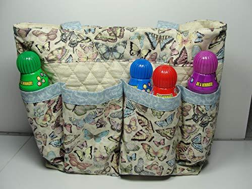Butterfly Bingo Handmade Fabric Purse Bag Tote Craft Organizer Teacher Tote Nurse Tote from Bonnie Adcox Creations