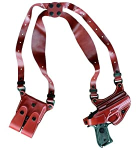 Gould & Goodrich 804-G20 Gold Line Shoulder Holster (Chestnut Brown) Fits GLOCK 20, 21, 29, 30, 36.