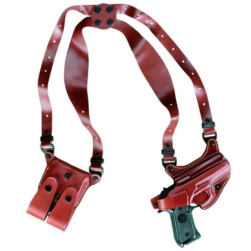 Gould & Goodrich 804-G17 Gold Line Shoulder Holster (Chestnut Brown) Fits GLOCK 17, 19, 22, 23, 31, 32, 34, 35, 39