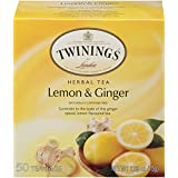 Twinings Lemon and Ginger Tea 50 count Tea Bags