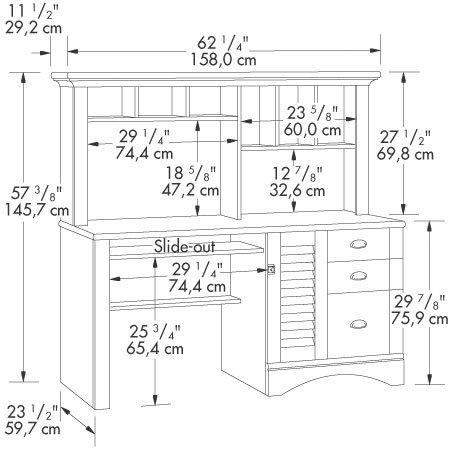 Amazon.com: Antique White Computer Desk w/ Hutch & File Cabinet Drawer:  Kitchen & Dining - Amazon.com: Antique White Computer Desk W/ Hutch & File Cabinet