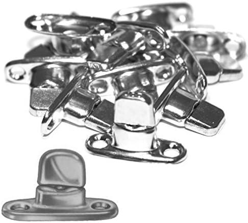 Versandbox24 5 Stück Dot Drehverschluss Schwenkriegel Für Ovalösen Anhänger Plane Persenning Planenhaken Sport Freizeit