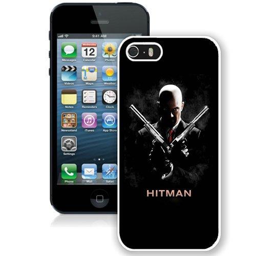 Coque,Fashion Coque iphone 5S Hitman 47 Double Pistols blanc Screen Cover Case Cover Fashion and Hot Sale Design