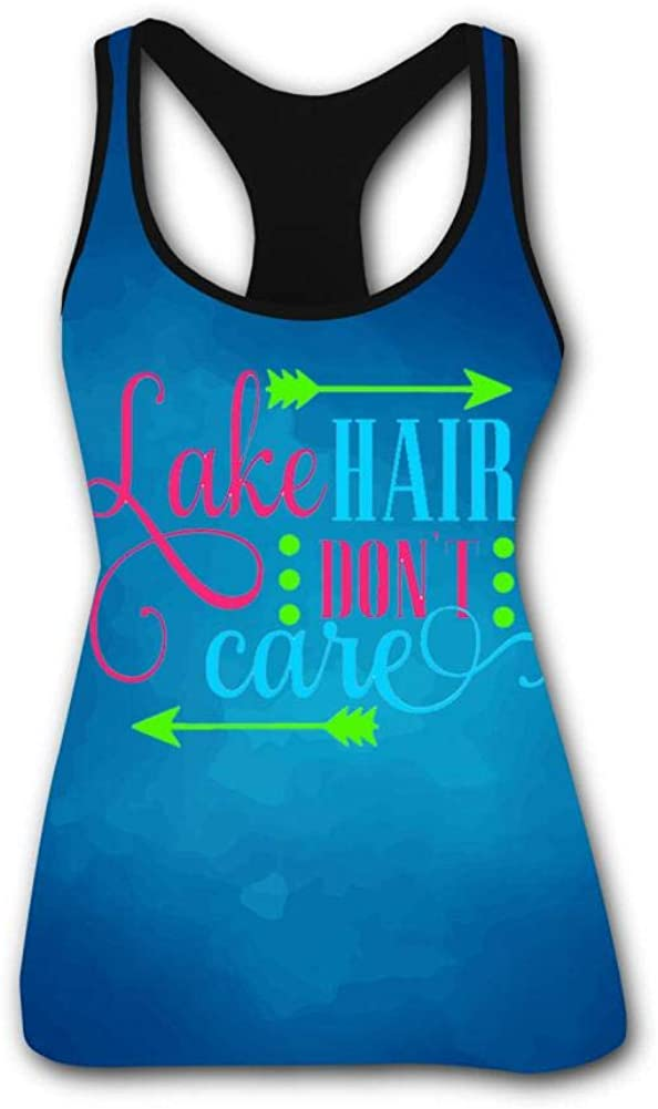 BEDDAN Women's Outdoor Sport Lake Hair Dont Care Tank Top Vest T-Shirt Fast Drying Tee