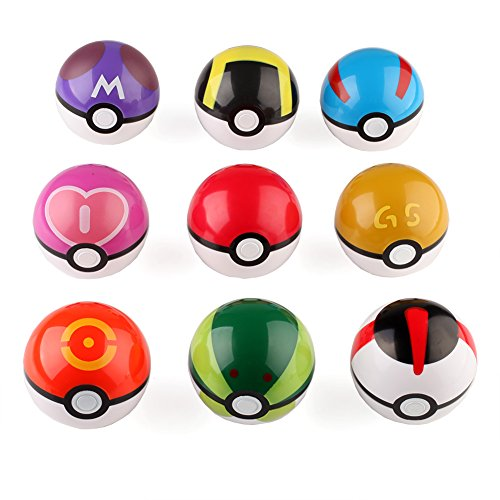 VERY100-9pcs-Pokeball-Pokemon-Poke-7cm-Bola-de-juguete-MemoriaRegalo