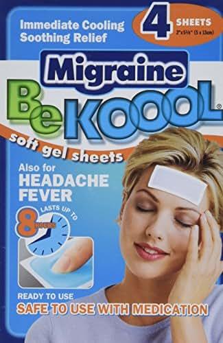 Pain Relievers: BeKool Migraine Soft Gel Sheets