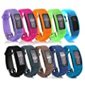 Cute Silicone Replacement Watchband Style Wristband Bracelet/ Accessory Silicon Wrist Strap with Safety Watch Buckle/ Clasp for Garmin Vivofit 2 Fitness Band, One Size