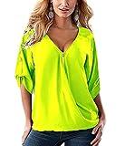 Sumtory Women's Chiffon Sleeve Tops – Medium, Yellow