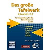Das große Tafelwerk interaktiv 2.0 - Allgemeine Ausgabe (außer Niedersachsen und Bayern): Das grosse Tafelwerk interaktiv 2.0 Mathematik, Informatik, ... mit CD-ROM. Westliche Bundeslaender