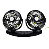 Cooling Air Car Fan, Leegoal Dashboard Electric USB Car Fan with Low Noise, 360 Degree Rotation, 3 Adjustable Speed Auto Fan for Vehicle Truck, Golf cart, Sedan SUV RV Boat