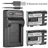 Kastar Battery (X2) & Slim USB Charger for Canon NB-2L, NB-2LH, NB2L, NB2LH and G9, Rebel XTi, G7, Rebel XT, HV-20, ZR-850, S30, HV-40, S330, S50, HV-10, ZR100, ZR-830, ZR-700 Digital Cameras