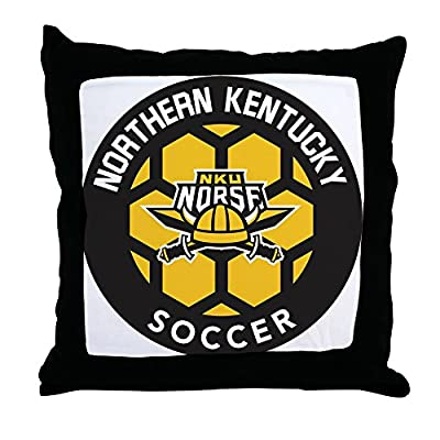 "CafePress Northern Kentucky NKU Norse Soccer - Decor Throw Pillow (18""x18"")"