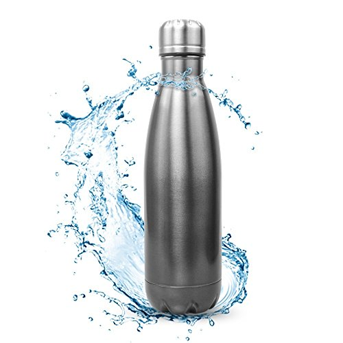 Vacuum Insulated 18/8 Stainless Steel Water Bottle, Picus Double Walled Cola Shape Bottle, Leak Proof Sports Bottle, Narrow Mouth with BPA Free, Keeps Drinks Cold for 24 hours & Hot for 12 Hours