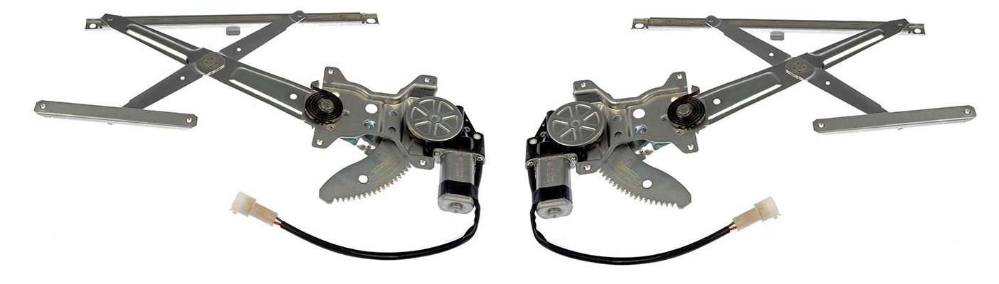 Front Power Window Regulator with Motor Pair Set Both Driver and Passenger NEW for (without Vent Window) 1984 - 1988 Toyota Pickup 84-89 4Runner 6980289109 6980189109 TO1350106 TO1351106 by AUTO PART PLUS