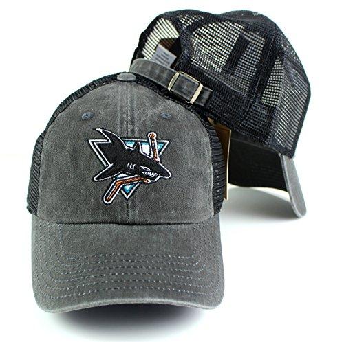 San Jose Sharks NHL American Needle Raglan Bones Team Logo Mesh Back Slouch Twill Cap