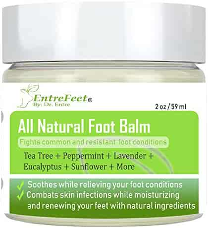 Dr. Entre's Foot Balm: Organic Hydrating Antifungal Relief for Fungal Infections, Dry Cracked Heels, Callused Feet, Athletes Foot, Bunions, and More - Essential Oil Based - Satisfaction Guaranteed