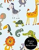 Creative Kids Sticker Album: Amazing Sticker Collection Book  Blank Permanent Sticker Book