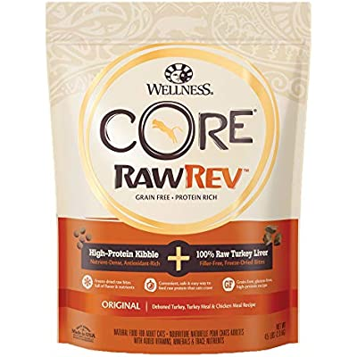 WELLNESS CORE Rawrev Original Deboned Turkey, Meal & Chicken Meal Recipe, 4.5 lb Bag