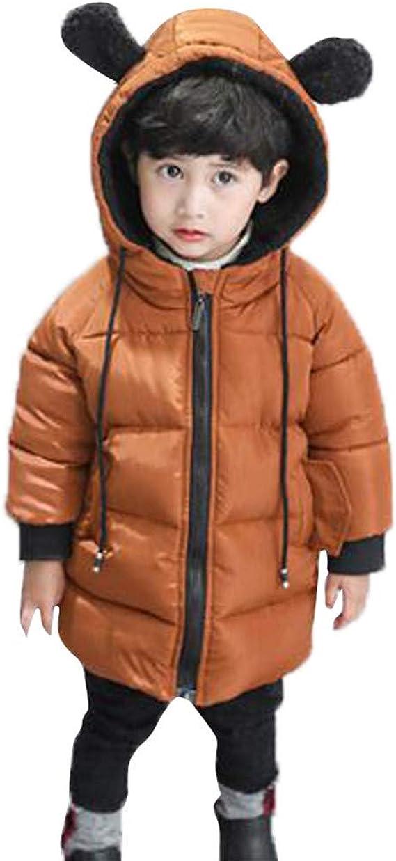 Shaohan Baby Daunenmantel Jungen Daunenjacke M/ädchen Steppjacke Kinder Winterjacke Dicke Daunenjacke Warm M/äntel Winter Coat Rei/ßverschluss Kapuzenjacke Outwear