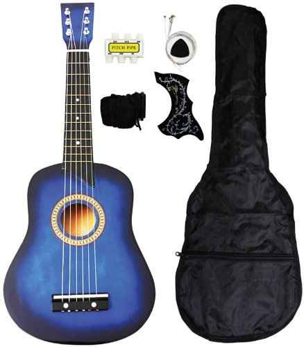 UPC 818107013515, Crescent MG25-BU Kids Acoustic Toy Guitar 25-Inch, Blue Color