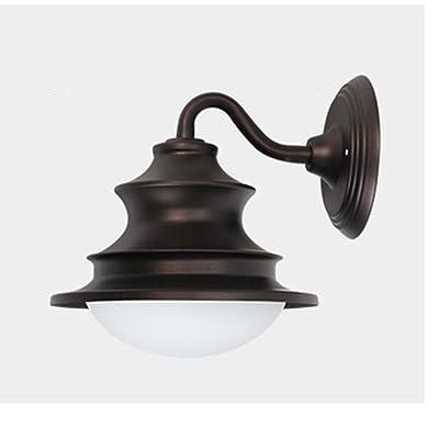Meetyou Rencontrer American Style Lampe Murale Extérieur Lampe Murale Nostalgique Vintage Balcon Couloir Lampe Patio Extérieur Lampe Mur Imperméable