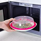 Charberry Microwave Food Cover Plate Vented Splatter Protector Clear Kitchen Lid Safe Vent