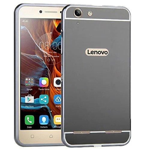 pretty nice eaa81 48cba SDO™ Metal Bumper Frame Case with Acrylic Mirror Back Cover Case for Lenovo  Vibe K5 (Black)