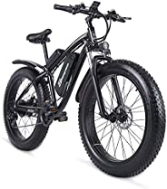 Sheng milo-MX02S 26 Inch Fat Tire Electric Bike 48V 1000W Motor Snow Electric Bicycle with Shimano 21 Speed Mo
