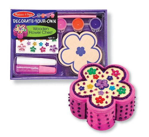 Melissa & Doug Wooden Flower Chest - (Rainy Day Clay)