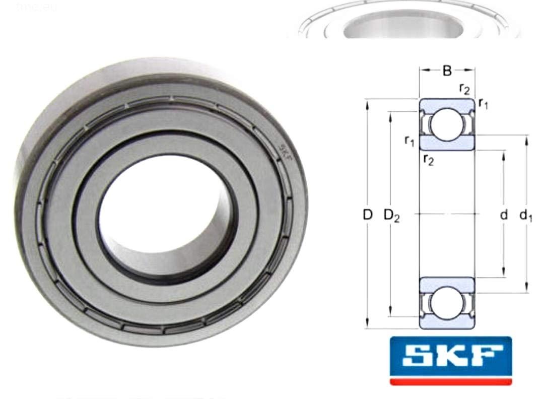 6206-2RS Ball Bearing Sealed Premium  Brand Koyo 30x62x16mm