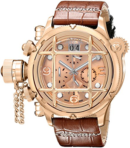 Invicta-Mens-17341-Russian-Diver-Analog-Display-Swiss-Quartz-Brown-Watch
