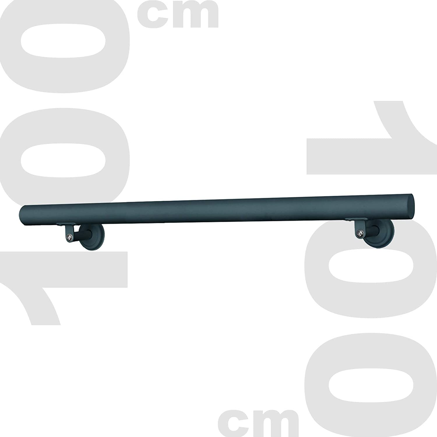 Kit Main courante Rambarde Support mural 100cm Anthracite Escaliers Poign/ée