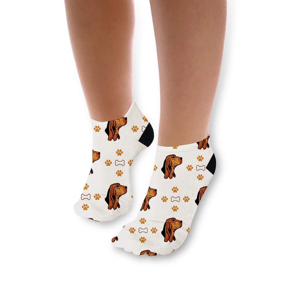 Bruno Jura Hound Dog Bones Paws Pattern Unisex Toddler Baby Ankle Socks Funny Novelty Kids Socks Polyester & Polyester Blend - 5 Pack by Cute Rascals