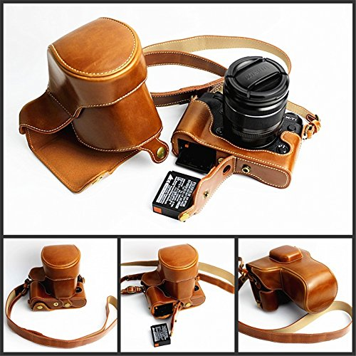 Fuji XT1 Case, BolinUS Handmade PU Leather FullBody Camera C