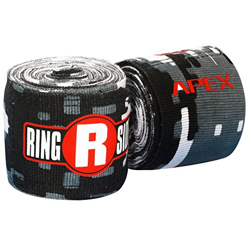 Ringside APEX Hand Wraps, Camo Black/White