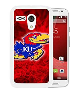 NCAA Big 12 Conference Big12 Football Kansas Jayhawks 1 White Motorola Moto G Screen Phone Case Unique and Grace Design